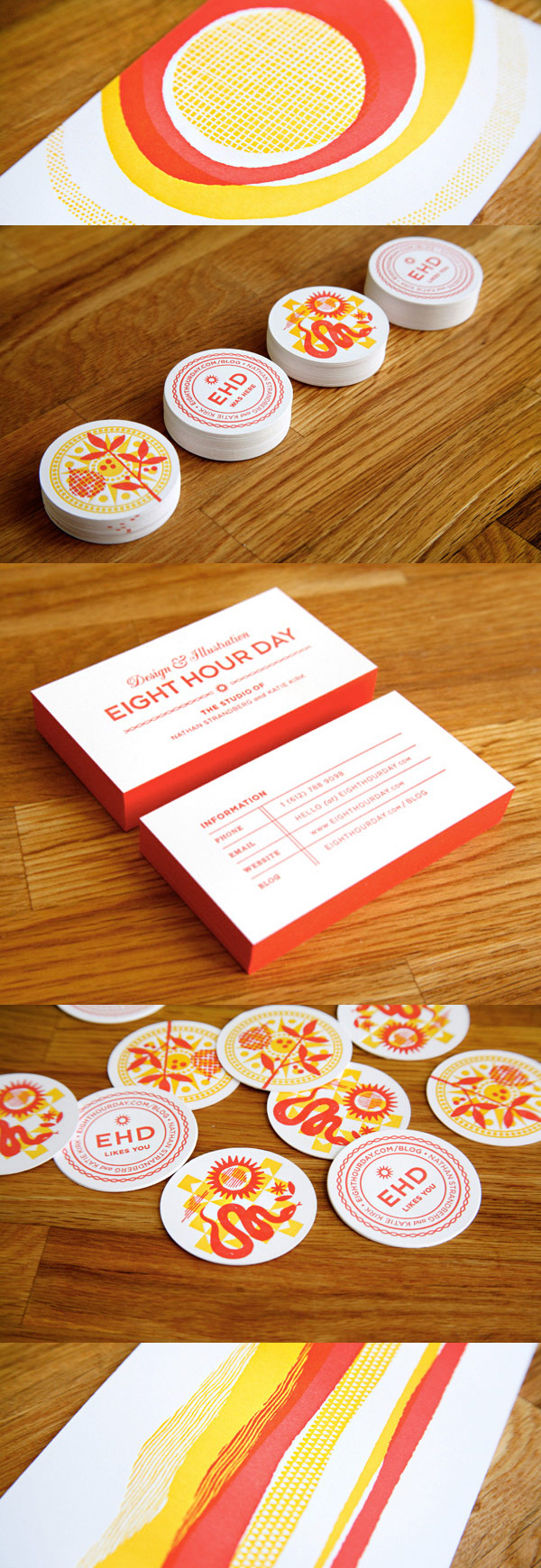 Eight Hour Day's Colorful Business Cards