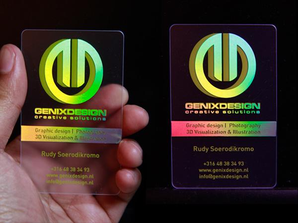 Genix Design's Holographic Business Card