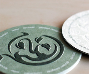Karen Geiger Creates' Embossed Business Card