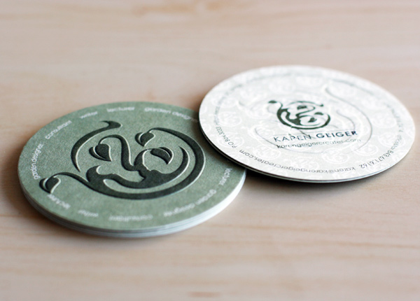Karen Geiger Creates' Circular Business Card