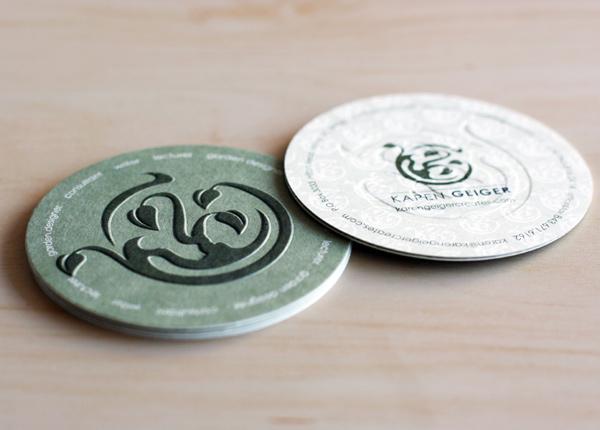 Karen Geiger Creates' Circular Business Card