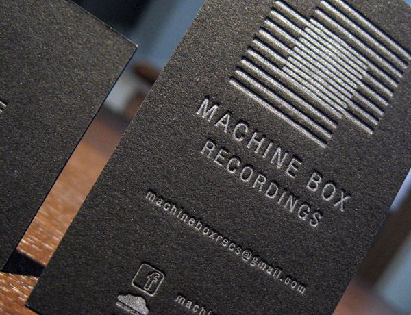 Machine Box Recordings Letterpress Business Card