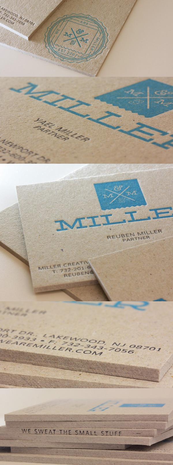Miller Branding Agency's Letterpress Business Cards