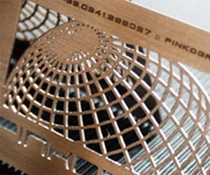 Pinkograf's Laser Cut Business Card