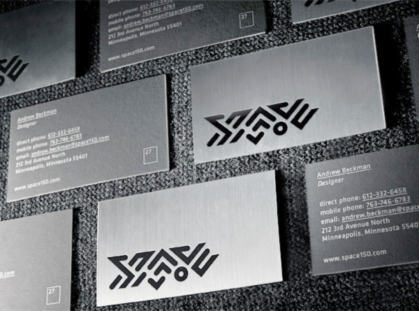 Space150's v27 Die Cut Business Cards