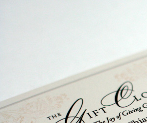 The Gift Closet's Typography Business Card