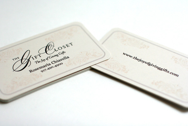 The Gift Closet's Typographic Business Card